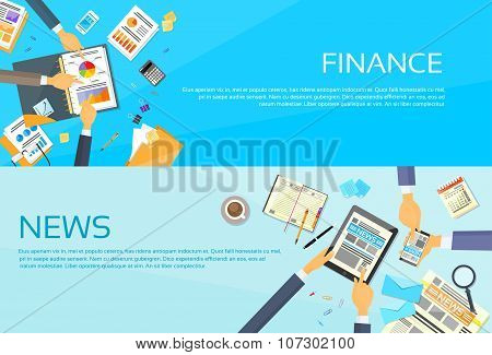 Hands Business Graph Charts Diagram, Businessmen Finance Document