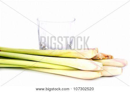 Lemongrass Drink, Clear Glass Filled