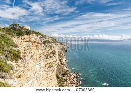 Cliff of Barbate in a sunny day.