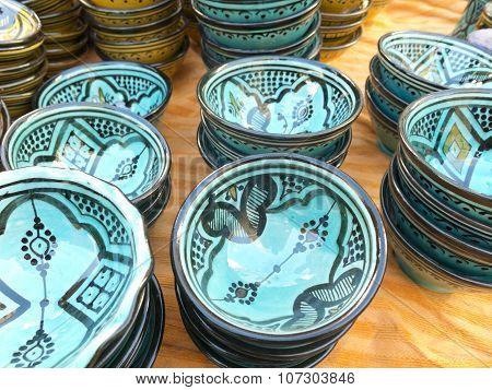Sale Of Ceramic, Typical Of Morocco.