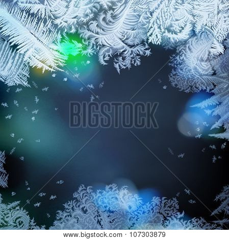 Frosty lights - abstract background.