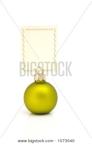Christmas Memo Green