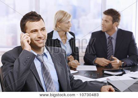Businessman On Call In Office