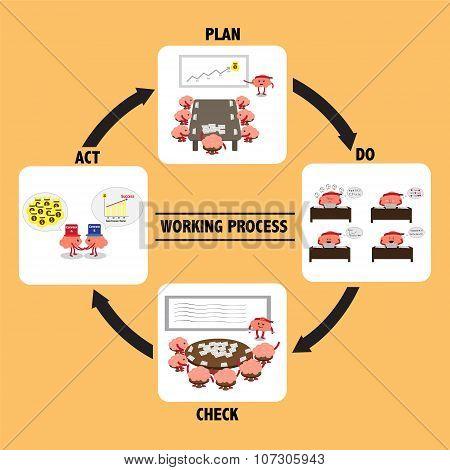 Brain Working Process