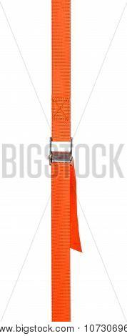 Orange Cam Buckle Strap On A White Background