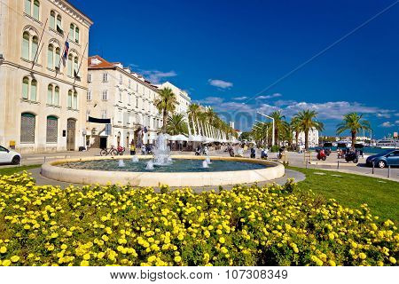 City Of Split Riva Fountain And Waterfront