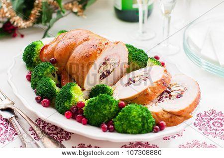Christmas Turkey Breast Roll
