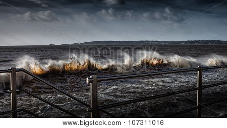 Swansea Bay waves