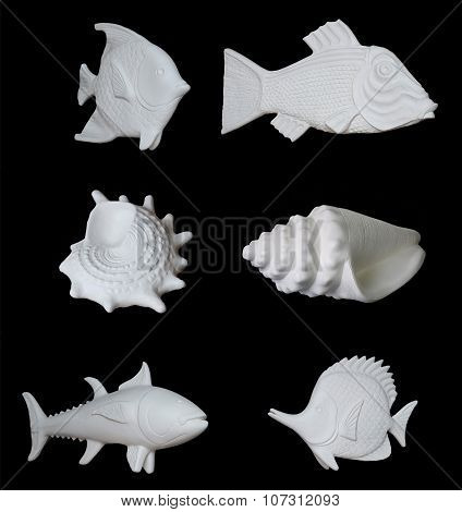 Set Of Decorative Plaster Products.