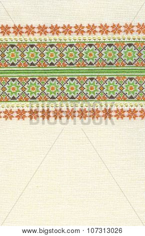 background with embroidery, cross-stitch, grid