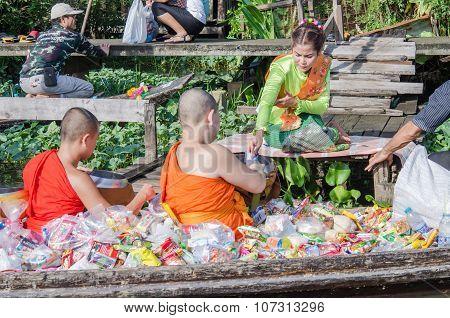 Buddhist Monks On Ok Phansa Day