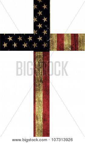 Isolated Flag Cross