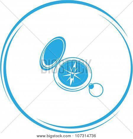 compass. Internet button. Vector icon.