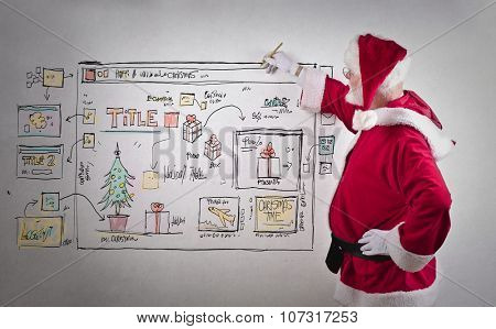 Santa Claus writing businessplans