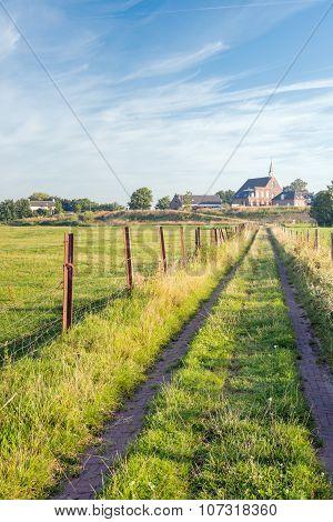 Picturesque Dutch Rural Landscape In Summertime