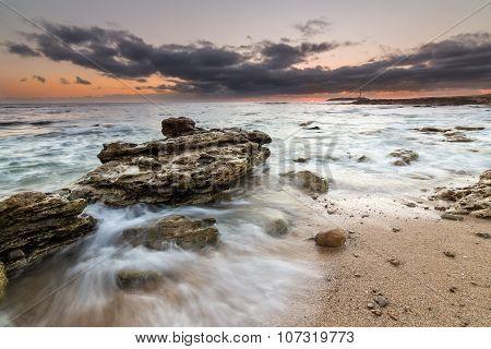 Water and Rocks in Trafalgar, Spain Coast