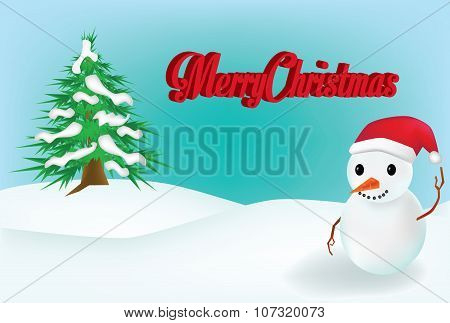 Vector - Snow Man background