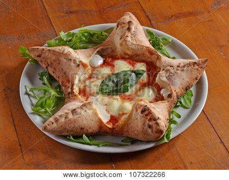 Original Italian pizza in particular form dish.