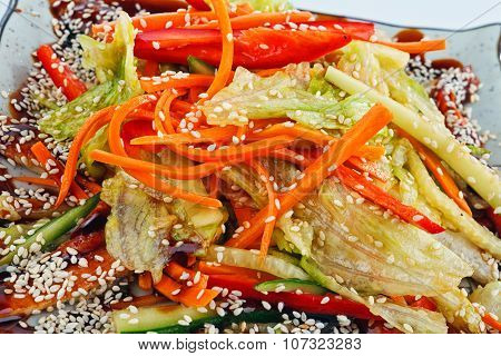 salad with eel