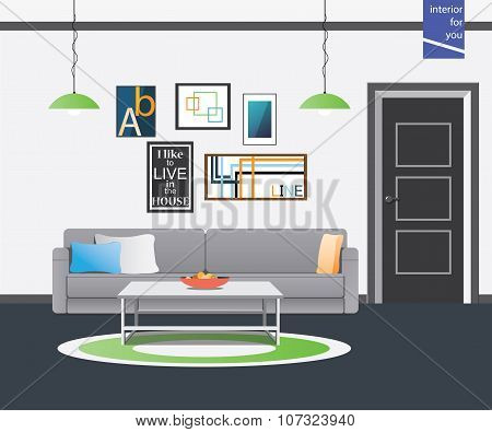 living room style interior