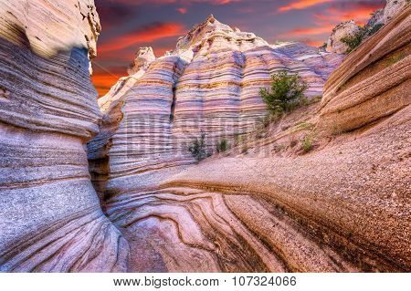 Tent Rocks Canyon At Sunrise