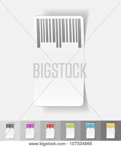 realistic design element. barcode
