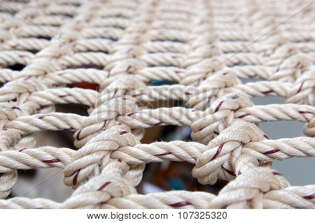 Knot Of Rope For Net