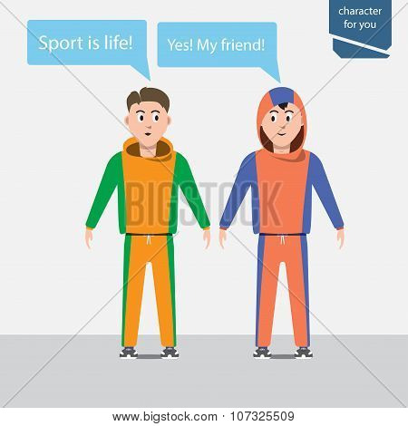 Two Sport  young man
