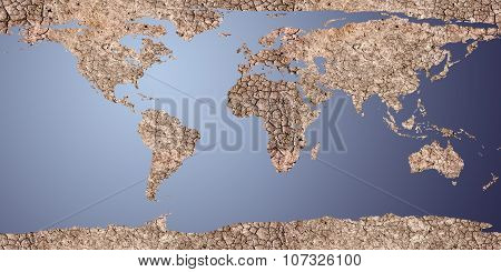 Dry Earth Displayed As A 2D Map