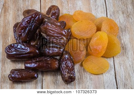 Dried Apricots And Dried Dates