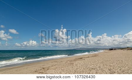 Beach At Platamona Near Porto Torres In Sardinia