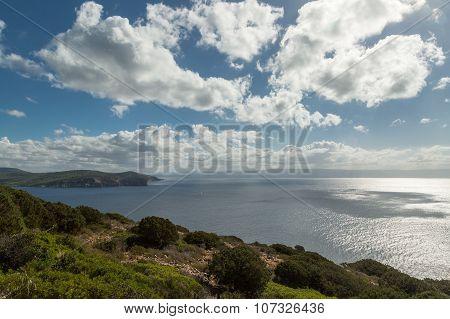 View From Capo Caccia Across Mediterranean Towards Alghero