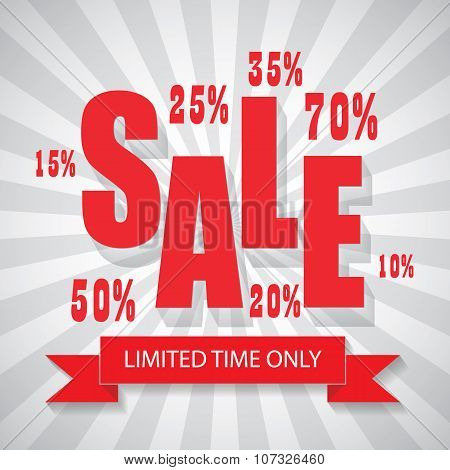 SALE poster colorful background