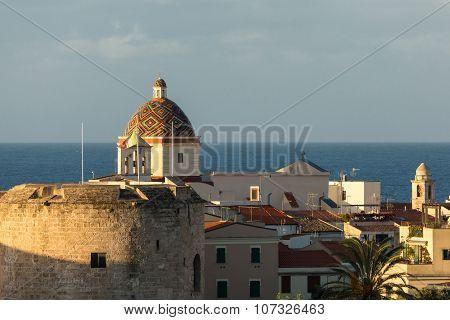 Dome Of Chiesa San Michele In Alghero, Sardinia