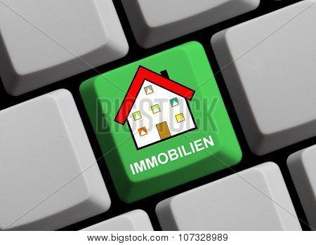 Green Keyboard - Real Estate Online German