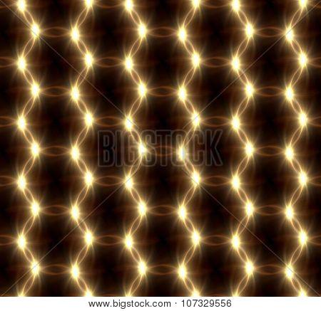 Lens Flare Overlap Gold Ring Pattern