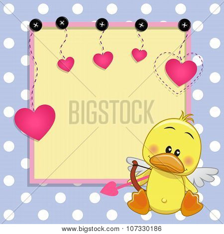 Cupid Duck With Frame
