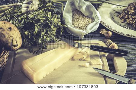 Italian Risotto Ingredients