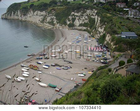 Beer bay in Devon