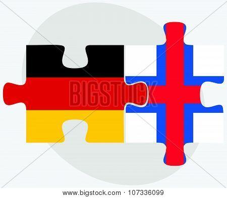 Germany And Faroe Islands Flags