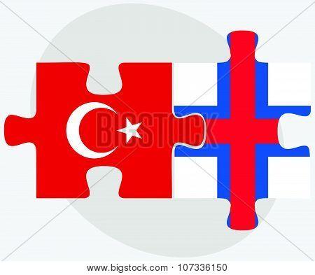 Turkey And Faroe Islands Flags