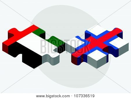 United Arab Emirates And Faroe Islands Flags