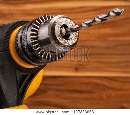 drill with drill bit