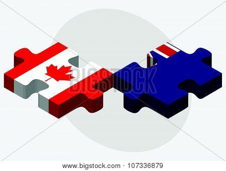 Canada And Falkland Islands Flags