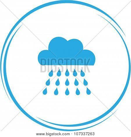 rain. Internet button. Vector icon.