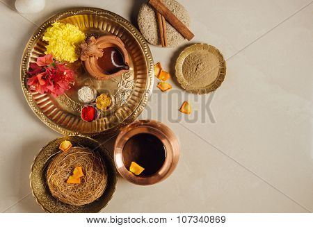 Utane- a mix herbal powder to have bath and scrub on the occasion of Diwali.