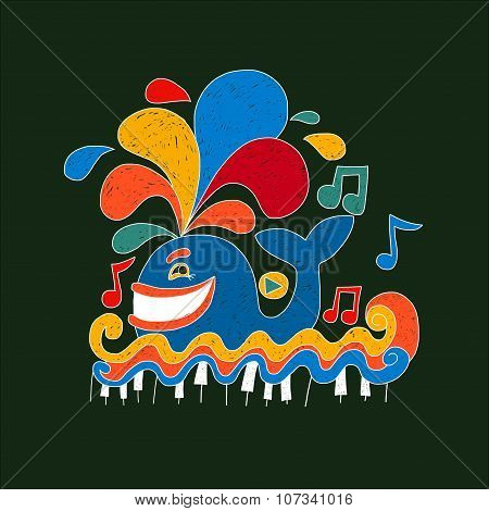 Happy music whale.
