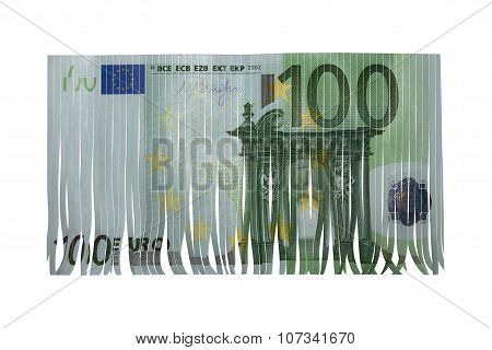 hundred euro bank note bill