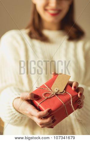 Woman Giving Somebody Birthday Gift