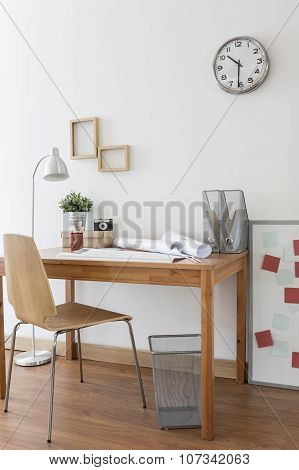 Desk And Chair In Home Office